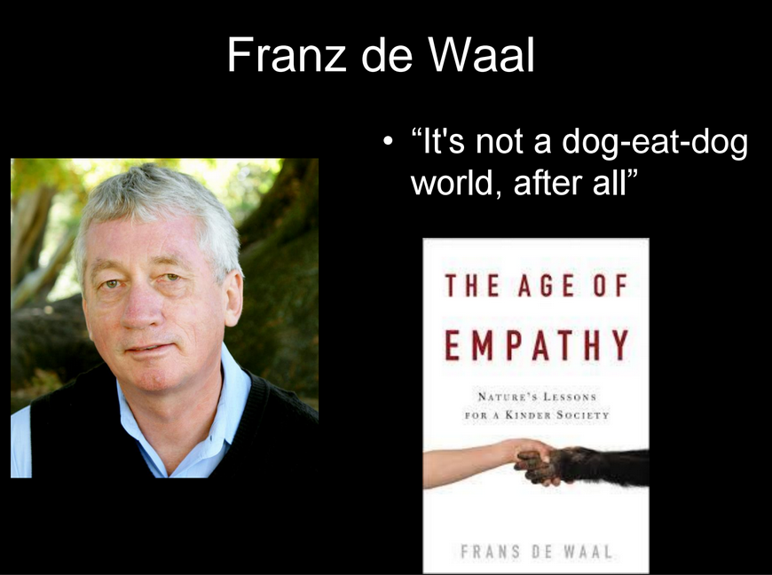 sympathy in the age of empathy a book by frans de waal Amazoncom: the age of empathy: nature's lessons for a kinder society ( audible audio edition): frans de waal, alan sklar, tantor audio: books.
