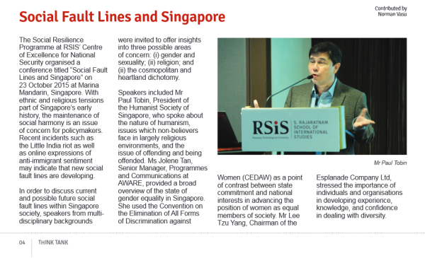 rsis newsletter paul